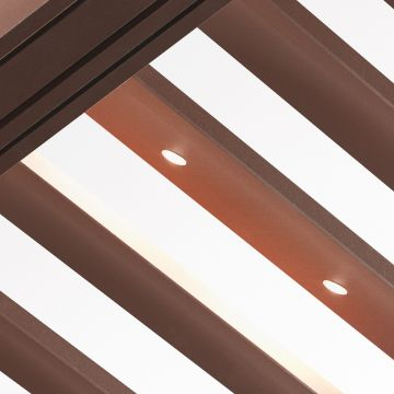 Bioclimatic electric ceiling with mini dots