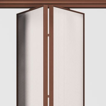 Complete sliding partition fabric side panel
