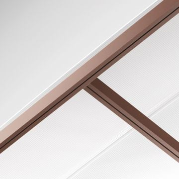 Polycarbonate double ceiling (watertight)