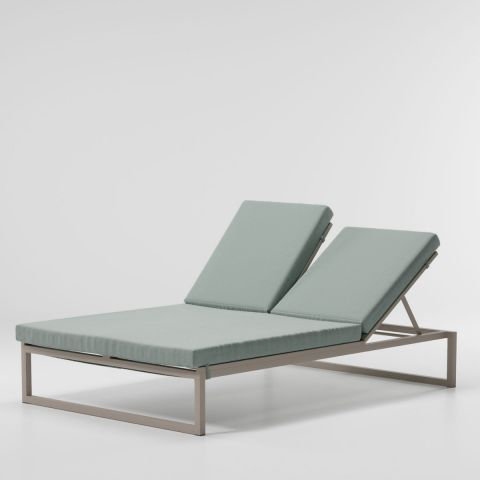 Landscape Double Via Deckchair with Sled Legs