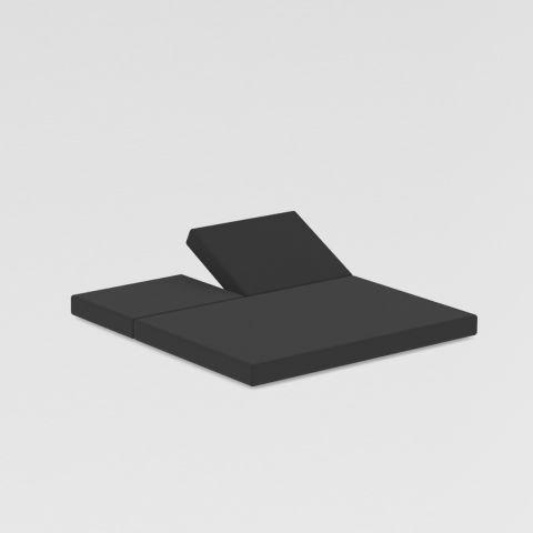 Cojín trasero con posiciones y asiento