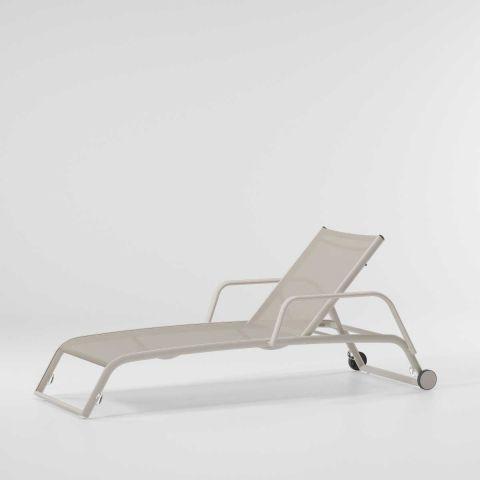 Basics Duo - Chaise longue à roues avec accoudoirs