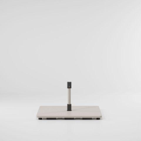 Meteo base plana de acero con ruedas L