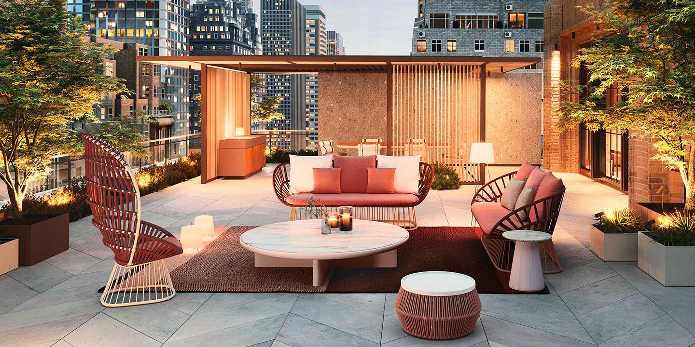 NYC terrace cala pavilion