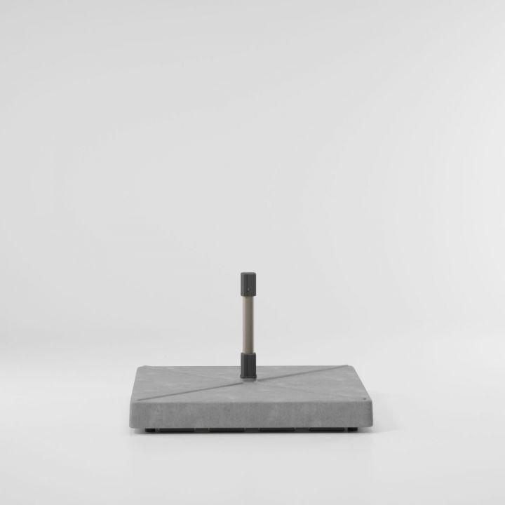 Meteo base plana de hormigón con ruedas L
