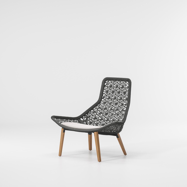 Maia sillón de comedor relax con patas de teca